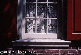 Window w/lace curtains