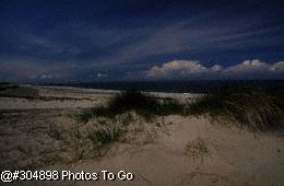 Sand dunes on seacoast